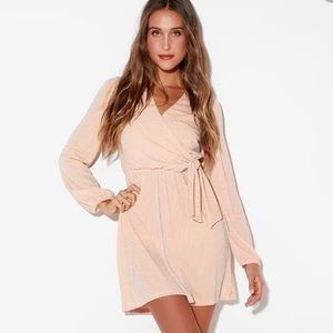 Lulu's Benita Silver & Blush pink striped dress